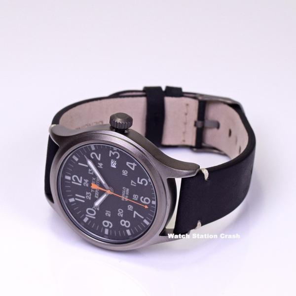 腕時計 メンズ TIMEX TW4B01900 本革 ミリタリー ブラック TIMEX EXPEDITION SCOUT METAL BOXなし メール便 watchcrash 04