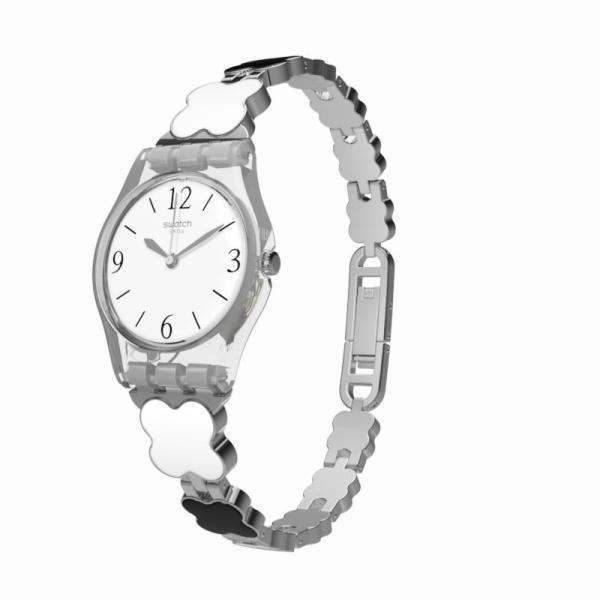 swatch(スウォッチ) 日本正規品 LK367G レディース 腕時計 CLOVERCHECK 四葉のクローバー モノトーンデザイン