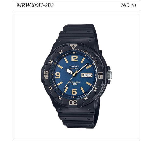 【10年保証】【送料無料】腕時計 メンズ CASIO 100M防水 チープカシオ MRW200H アナログ スポーツモデル 時刻合わせ済み|watchcrash|11