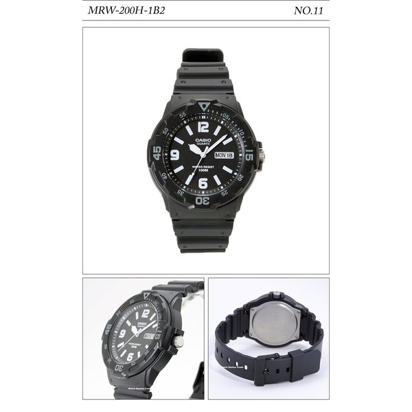 【10年保証】【送料無料】腕時計 メンズ CASIO 100M防水 チープカシオ MRW200H アナログ スポーツモデル 時刻合わせ済み|watchcrash|12