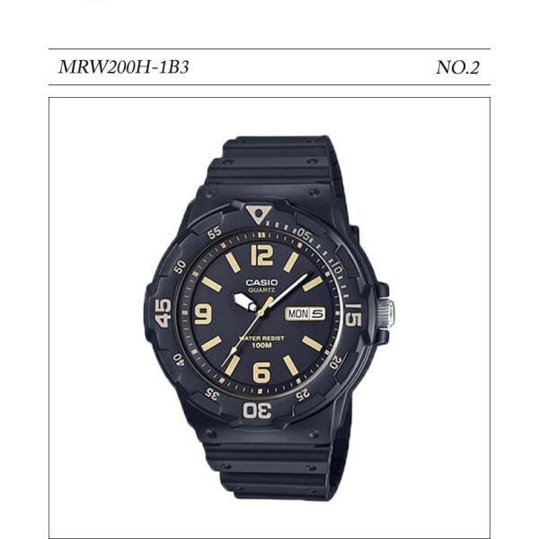 【10年保証】【送料無料】腕時計 メンズ CASIO 100M防水 チープカシオ MRW200H アナログ スポーツモデル 時刻合わせ済み|watchcrash|03