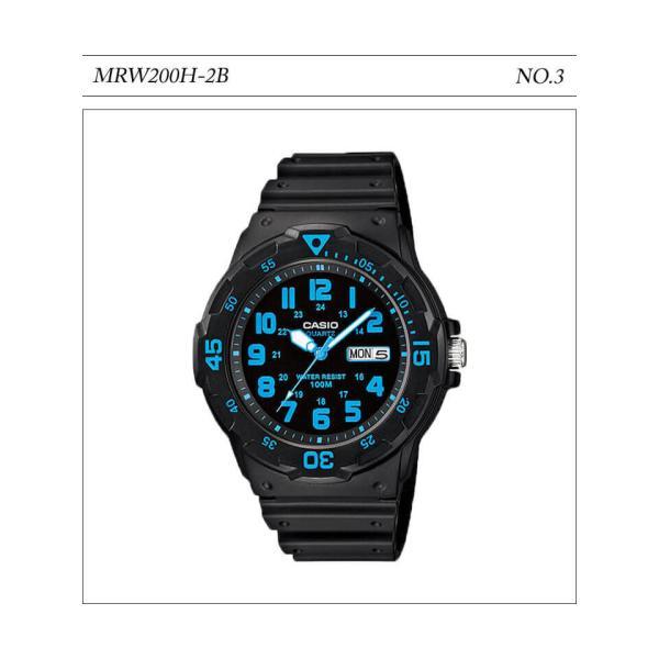【10年保証】【送料無料】腕時計 メンズ CASIO 100M防水 チープカシオ MRW200H アナログ スポーツモデル 時刻合わせ済み|watchcrash|04