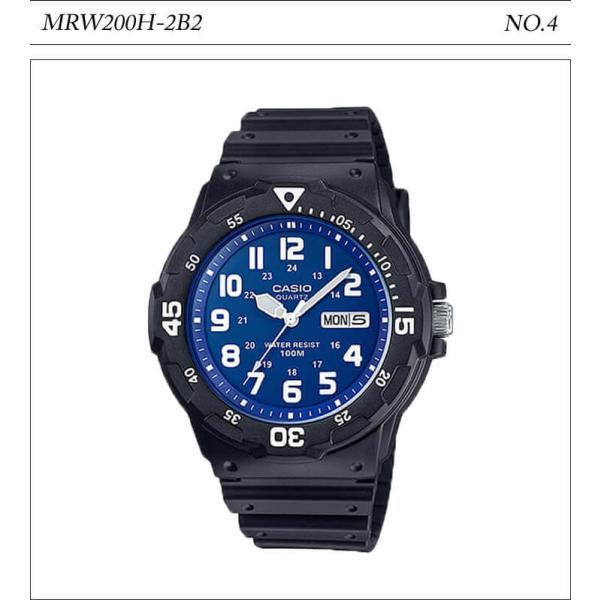 【10年保証】【送料無料】腕時計 メンズ CASIO 100M防水 チープカシオ MRW200H アナログ スポーツモデル 時刻合わせ済み|watchcrash|05