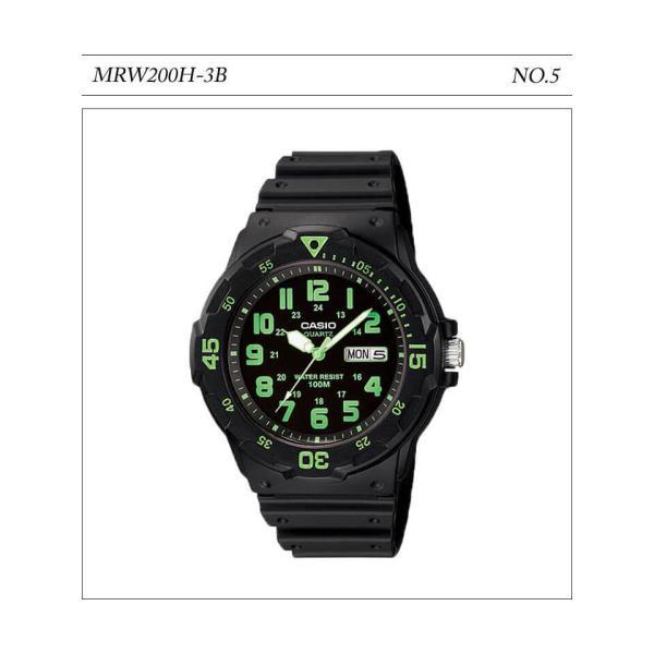【10年保証】【送料無料】腕時計 メンズ CASIO 100M防水 チープカシオ MRW200H アナログ スポーツモデル 時刻合わせ済み|watchcrash|06