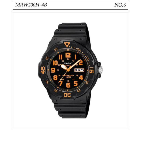 【10年保証】【送料無料】腕時計 メンズ CASIO 100M防水 チープカシオ MRW200H アナログ スポーツモデル 時刻合わせ済み|watchcrash|07