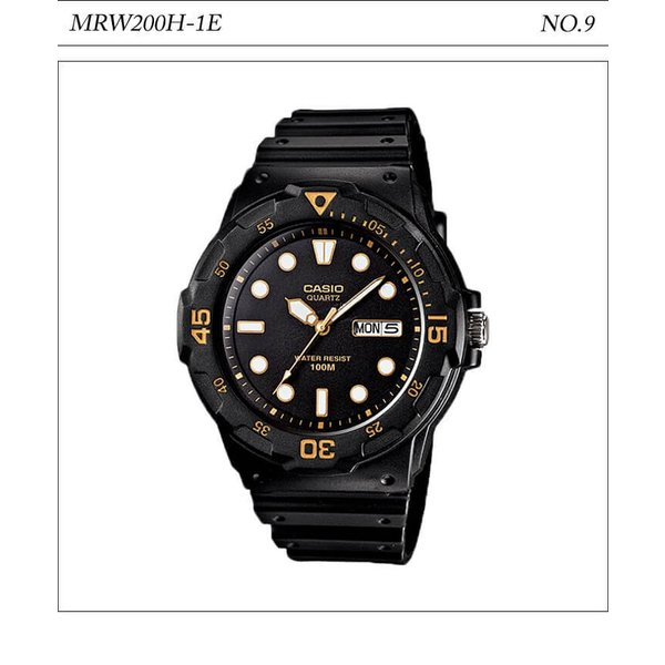 【10年保証】【送料無料】腕時計 メンズ CASIO 100M防水 チープカシオ MRW200H アナログ スポーツモデル 時刻合わせ済み|watchcrash|10