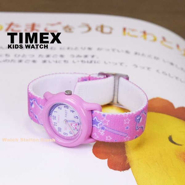 TIMEX タイメックス  タイム ティーチャー KIDS キッズ こども アナログ腕時計 ピンク ホワイト 白 バレエ 布ゴムバンド T7B151