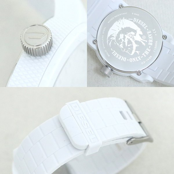 ペア価格 ディーゼル 腕時計 DIESEL ペアウォッチ メンズ レディース ホワイト ブラック dz1436 dz1437|watchlist|05