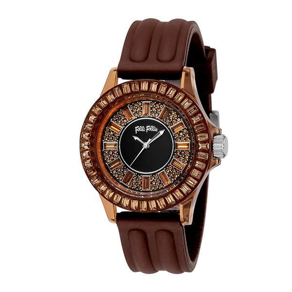 フォリフォリ FOLLI FOLLIE 腕時計 レディース WF1P014ZSB-BR クォーツ ブラウン