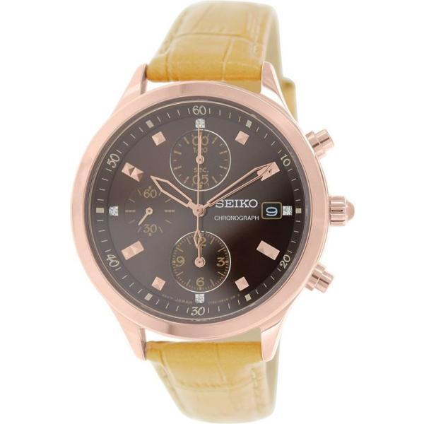 セイコー SEIKO 女性用 腕時計 レディース ウォッチ クロノグラフ ブラウン SNDX04