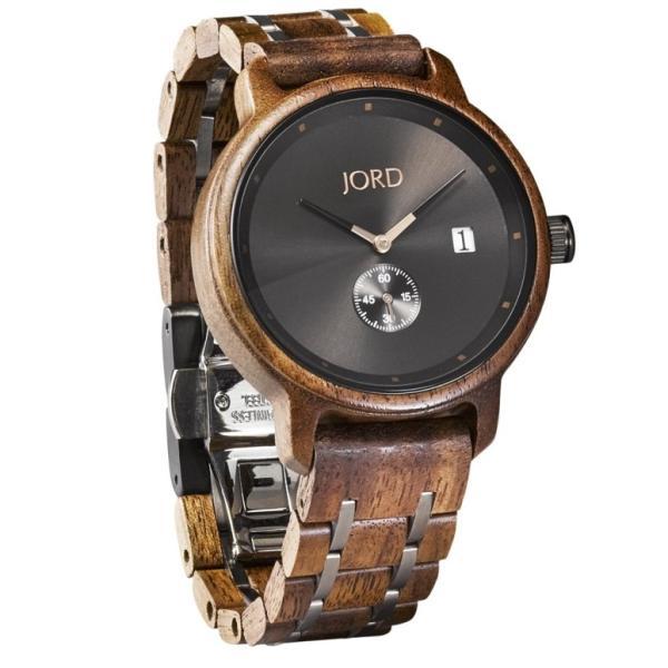 ジョード jord ウッドウォッチ 木製腕時計 女性用 腕時計 レディース ウォッチ グレー ブラック J043Q00-P