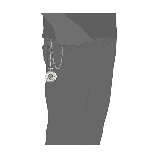 ストゥーリング オリジナル Stuhrling Original 男性用 懐中時計 メンズ ポケット ウォッチ ホワイト 6053.33113