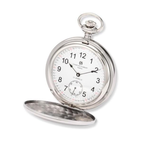 チャールズヒューバート Charles-Hubert, Paris 懐中時計 ポケット ウォッチ ホワイト 3907-WRR