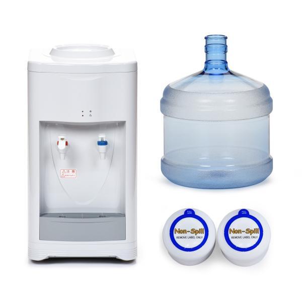 12Lボトル付き ウォーターサーバー604H  卓上 業務用 家庭用 本体 温水 冷水 コンプレッサー式 水道水