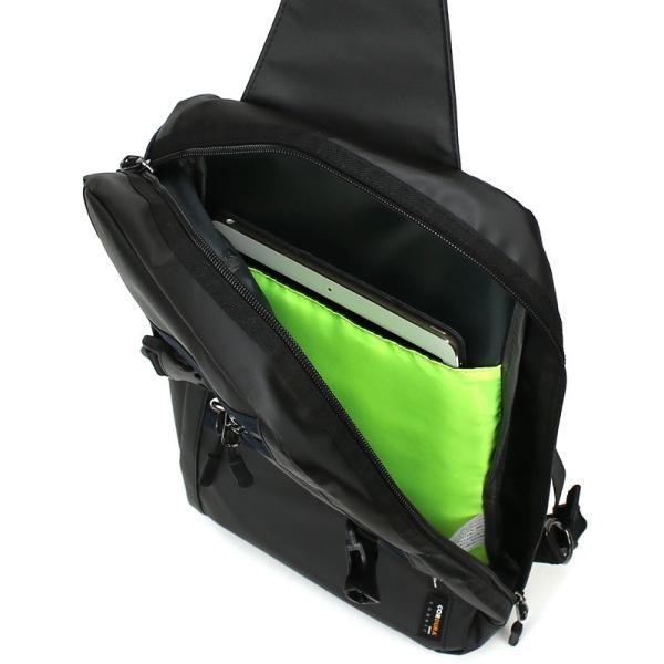 FIRE FIRST(ファイヤーファースト) ボディバッグ 斜めがけバッグ ワンショルダーバッグ A4 保温保冷ポケット 撥水 9364 FFTG-316 メンズ 送料無料 watermode 10
