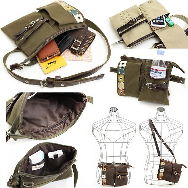BLOCKS(ブロックス) ウエストバッグ ショルダーバッグ 2WAY EKH-60025 メンズ レディース 男女兼用