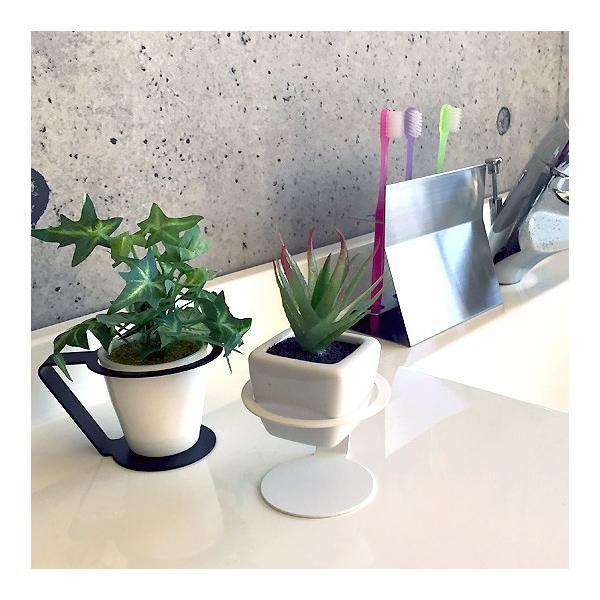 紙コップ おしゃれ コップホルダー カップホルダー 観葉植物 ミニ 鉢 コップホルダーBLACK/WHITE|watex-shop|05