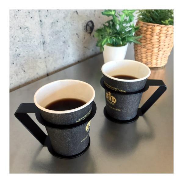 紙コップ おしゃれ コップホルダー カップホルダー 観葉植物 ミニ 鉢 コップホルダーBLACK/WHITE|watex-shop|06