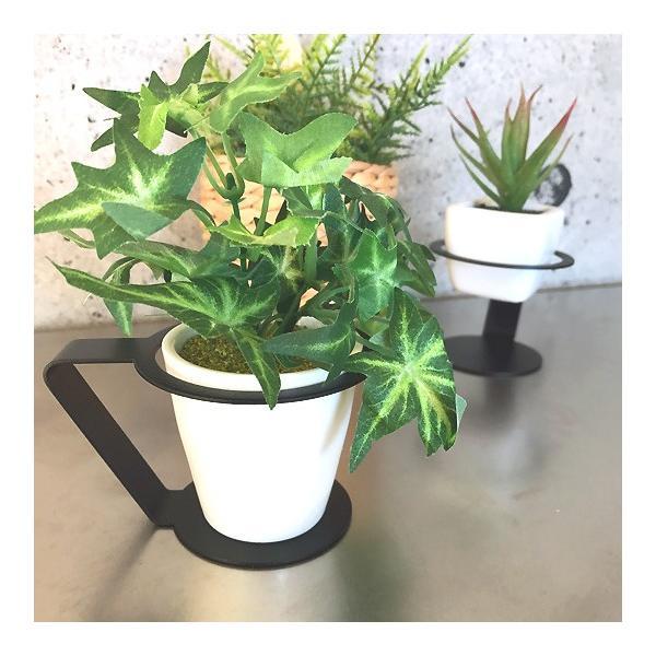 紙コップ おしゃれ コップホルダー カップホルダー 観葉植物 ミニ 鉢 コップホルダーBLACK/WHITE|watex-shop|07