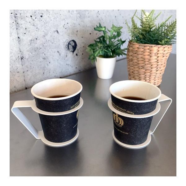 紙コップ おしゃれ コップホルダー カップホルダー 観葉植物 ミニ 鉢 コップホルダーBLACK/WHITE|watex-shop|08