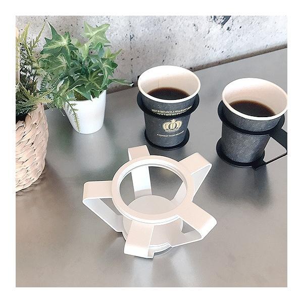 紙コップ おしゃれ コップホルダー カップホルダー 観葉植物 ミニ 鉢 コップホルダーBLACK/WHITE|watex-shop|09