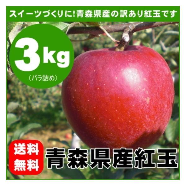 紅玉りんご 約3kg 加工用 訳あり 青森県産 黒ほし 擦り傷 枝傷 押し傷 着色不良