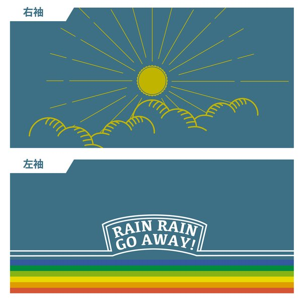 【予約商品・2月上旬発送予定】■半袖ジャージ RAIN RAIN GO AWAY! 予約受付は11/30 23時まで waveone 03