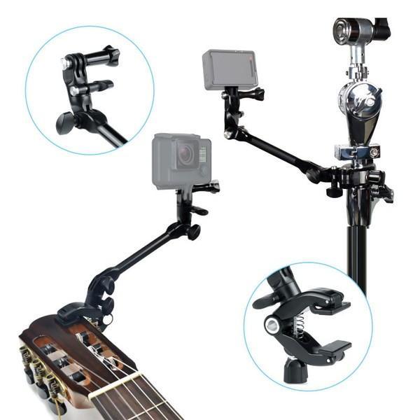 GoPro アクセサリー クランプマウント ゴープロ 8 hero8 MAX 挟む JAM ギター 楽器 ミュージック アクションカメラ|wavy|02