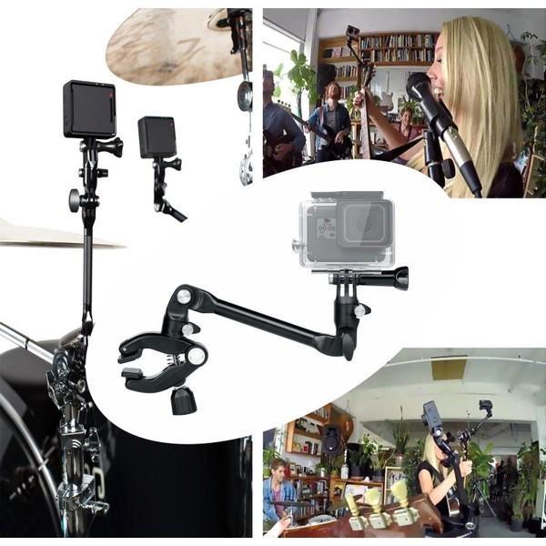 GoPro アクセサリー クランプマウント ゴープロ 8 hero8 MAX 挟む JAM ギター 楽器 ミュージック アクションカメラ|wavy|13
