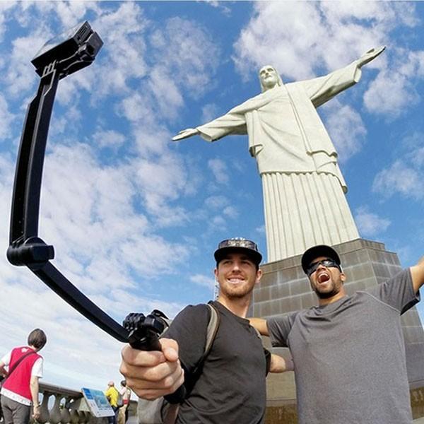 GoPro 8 ゴープロ hero8 MAX 三脚 自撮り棒 ラバーグリップ 3way ラバー ショーティー 変形 安い アクションカメラアクセサリー|wavy|12