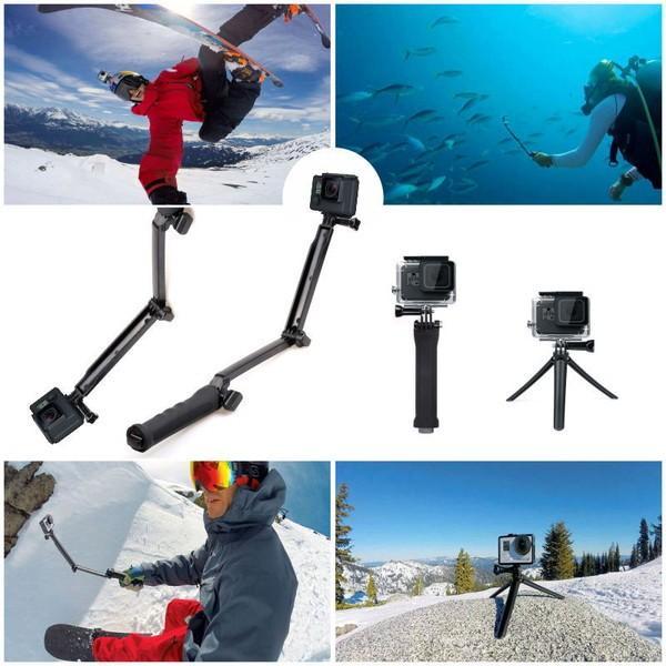 GoPro 8 ゴープロ hero8 MAX 三脚 自撮り棒 ラバーグリップ 3way ラバー ショーティー 変形 安い アクションカメラアクセサリー|wavy|13