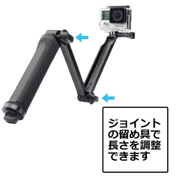 GoPro 8 ゴープロ hero8 MAX 三脚 自撮り棒 ラバーグリップ 3way ラバー ショーティー 変形 安い アクションカメラアクセサリー|wavy|07