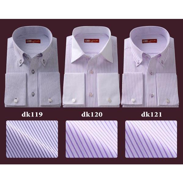ワイシャツ ダブルカフス 長袖 メンズ フォーマル カッターシャツ DKシリーズ ブライダル クールビズ|wawajapan|05