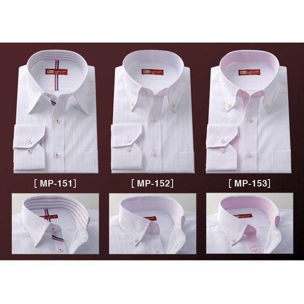 ワイシャツ 長袖 メンズ クールビズ カッターシャツ 10種類から選べる MPシリーズ ビジネス カジュアル|wawajapan|02