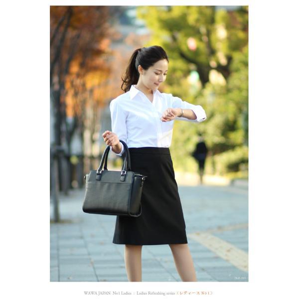 e51a404ab7ffce ... 18種類から選べる レディース半袖 七分袖 長袖 白ドビー 無地 ブラウスシャツ| ...