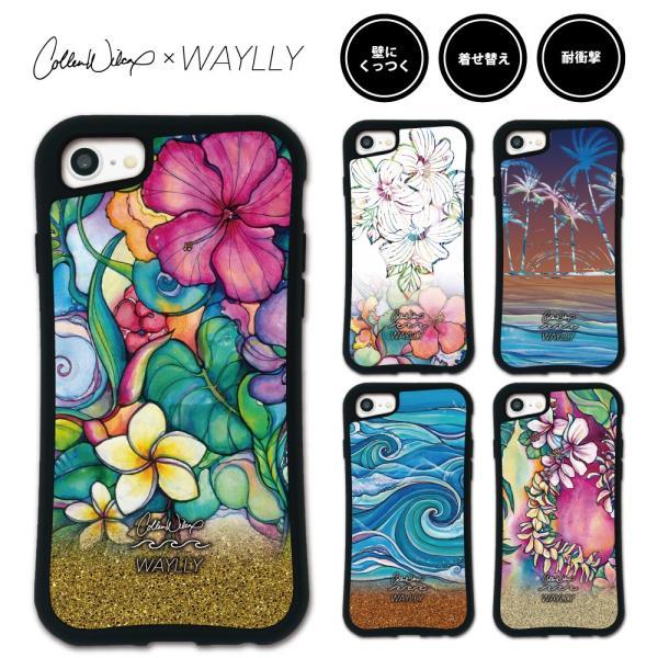 iPhone 8 7 XR XS X SE 6s 6 Plus XsMax 11 pro max ケース スマホケース Colleen Malia Wilcox 耐衝撃 シンプル おしゃれ くっつく ウェイリー WAYLLY _MK_ waylly