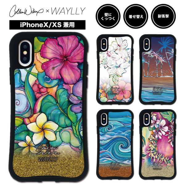 iPhone XS X ケース スマホケース Colleen Malia Wilcox 耐衝撃 シンプル おしゃれ くっつく ウェイリー WAYLLY _MK_|waylly