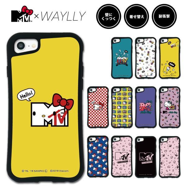 iPhone 8 7 XR XS X 6s 6 Plus XsMax ケース スマホケース  MTV×ハローキティ 耐衝撃 シンプル おしゃれ くっつく ウェイリー WAYLLY _MK_|waylly