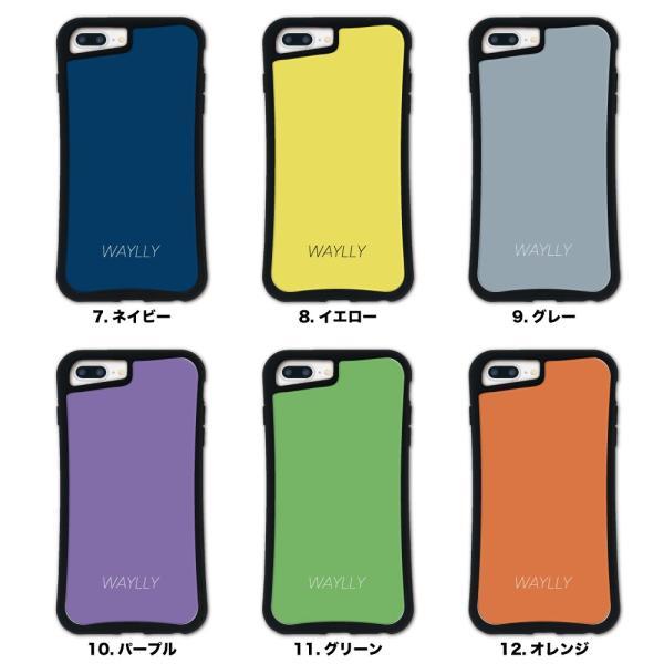 iPhone 7Plus 8Plus 6Plus 6sPlus ケース スマホケース スモールロゴ 耐衝撃 シンプル おしゃれ くっつく ウェイリー WAYLLY _MK_ waylly 03
