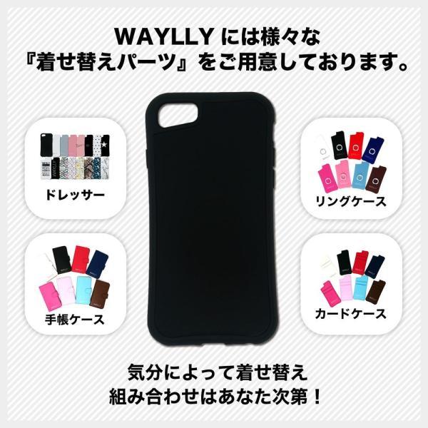 iPhone 7Plus 8Plus 6Plus 6sPlus ケース スマホケース スモールロゴ 耐衝撃 シンプル おしゃれ くっつく ウェイリー WAYLLY _MK_ waylly 09