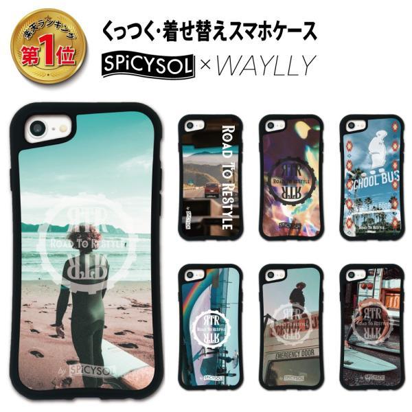 iPhone 8 7 XR XS X 6s 6 Plus XsMax 11 pro max ケース スマホケース SPiCYSOL 耐衝撃 シンプル おしゃれ くっつく ウェイリー WAYLLY _MK_|waylly