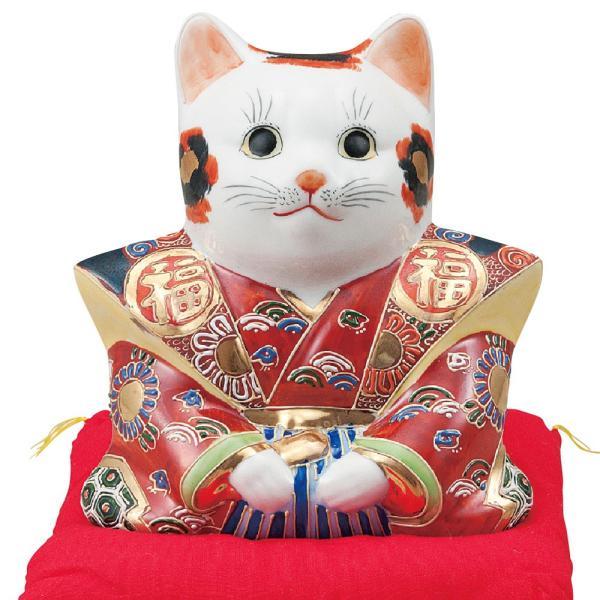 商売繁盛!九谷焼 福助招き猫 金福くん|waza