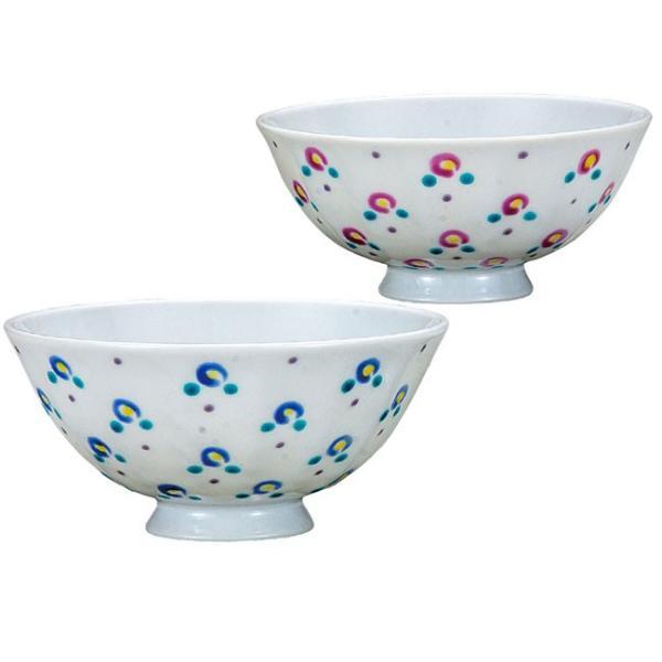 九谷焼 夫婦茶碗 小花|waza