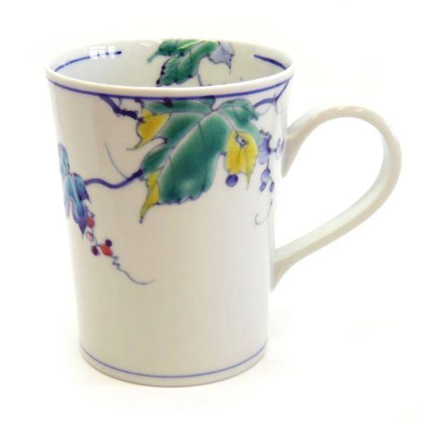 高級 陶器 ブランド 九谷焼 マグカップ 野ぶどう