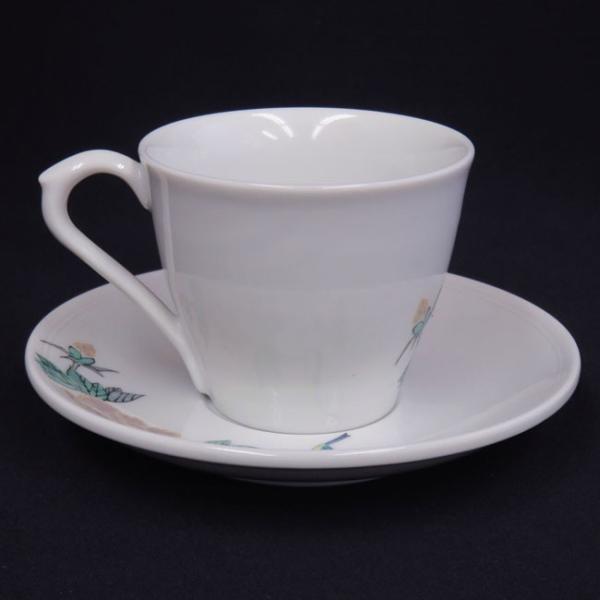 来客用 九谷焼 高級 コーヒーカップ&ソーサー 5客セット 小鳥|waza|03