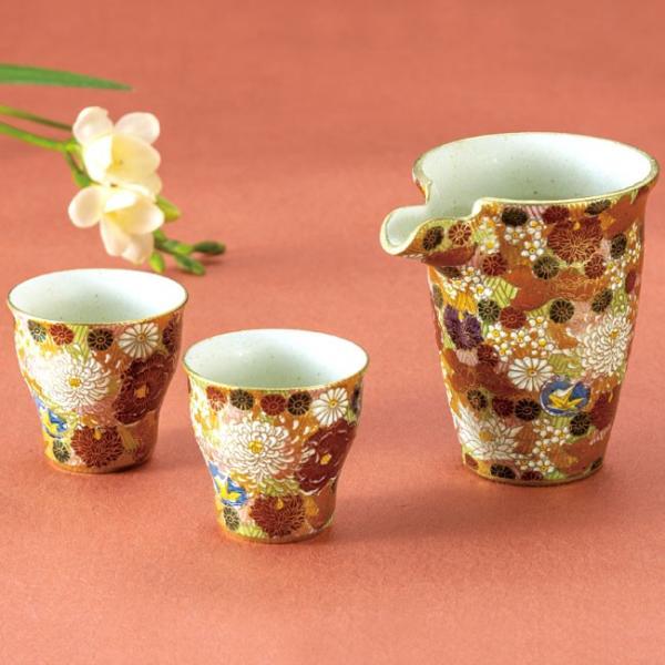 日本酒に合う器 九谷焼 晩酌セット 花詰|waza