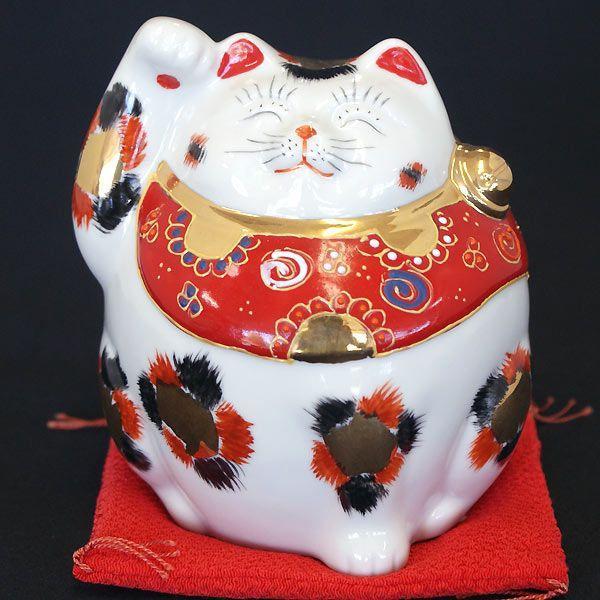 九谷焼 太っちょ 招き猫 金三毛|waza|02
