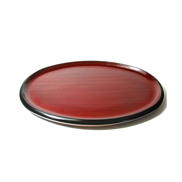 お盆・トレー 小判盆 布目 (AT-509) 木製・漆塗りのお盆 長さ30cm