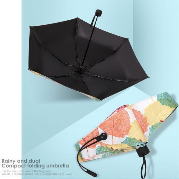 傘 折りたたみ傘 レディース 軽量 かわいい おしゃれ 晴雨兼用 日傘 折りたたみ 遮光 コンパクト 花柄|wc-y|13