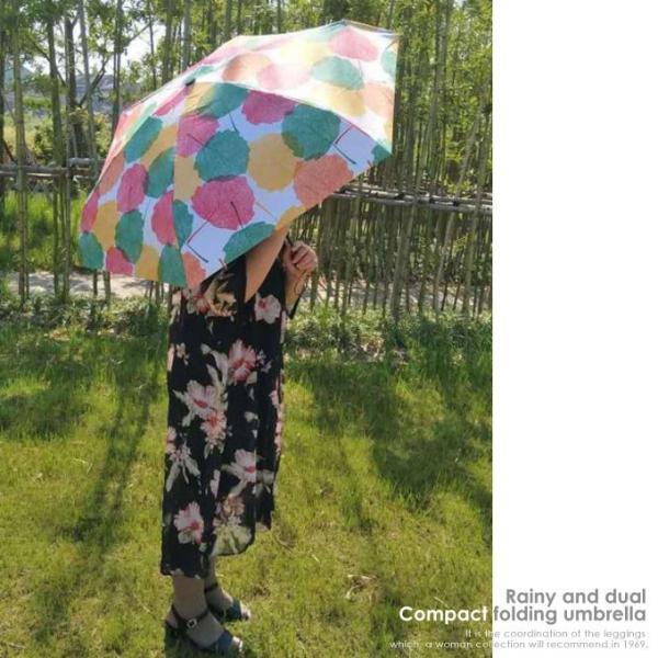 傘 折りたたみ傘 レディース 軽量 かわいい おしゃれ 晴雨兼用 日傘 折りたたみ 遮光 コンパクト 花柄|wc-y|15